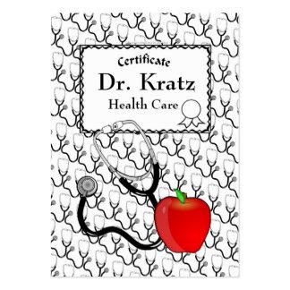 Cartão de visita médico dos cuidados médicos