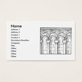 Cartão de visita medieval da arquitetura