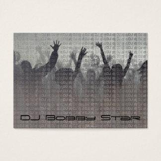 Cartão de visita metálico legal do DJ