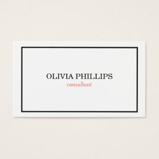 Cartão de visita minimalista