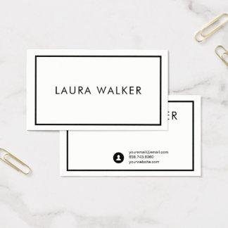 Cartão de visita minimalista com beira