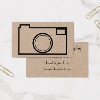 Cartão de visita minimalista da fotografia