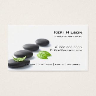 Cartões de visita para massagistas na Zazzle