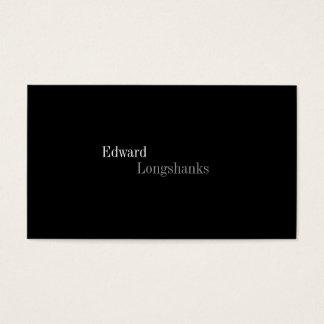 Cartão de visita minimalista - no. escuro 1 da