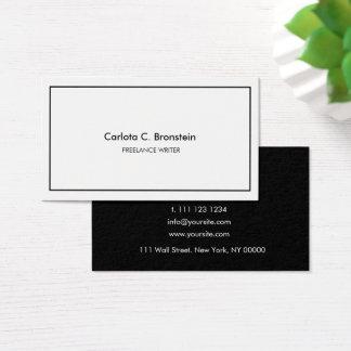 Cartão de visita minimalista profissional de
