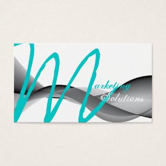 Cartão de visita moderno à moda do monograma do