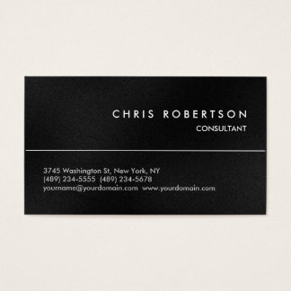 Cartão de visita moderno cinzento atrativo