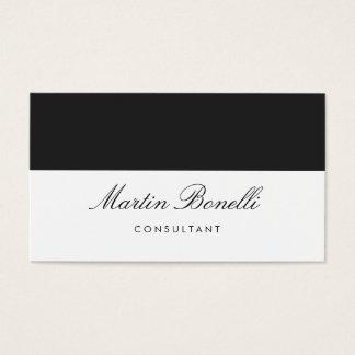 Cartão de visita moderno cinzento branco original