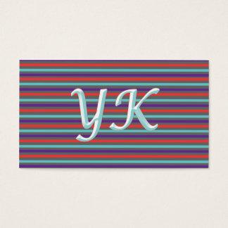 Cartão de visita moderno colorido de Stripey