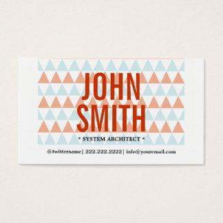 Cartão de visita moderno do arquiteto do sistema