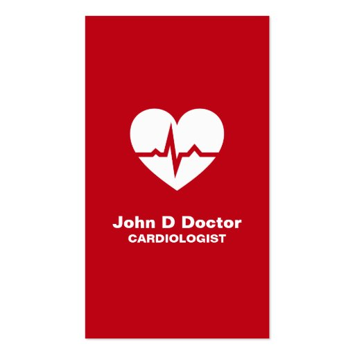 Cartão de visita moderno do coração da cardiologia