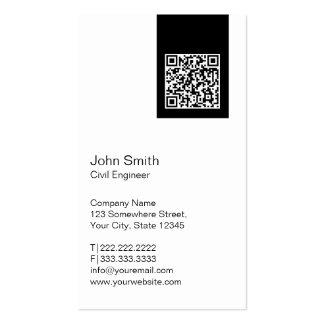 Cartão de visita moderno do engenheiro civil do
