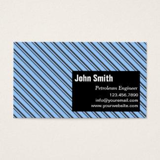 Cartão de visita moderno do engenheiro do petróleo