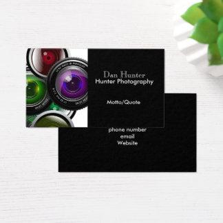 Cartão de visita moderno do fotógrafo