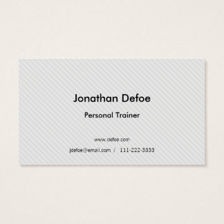 Cartão de visita moderno do instrutor pessoal
