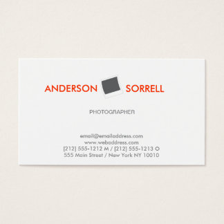 Cartão de visita MODERNO do LOGOTIPO do FOTÓGRAFO