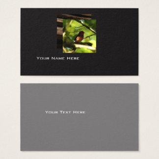Cartão de visita moderno do pássaro