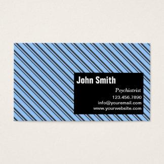 Cartão de visita moderno do psiquiatra das listras