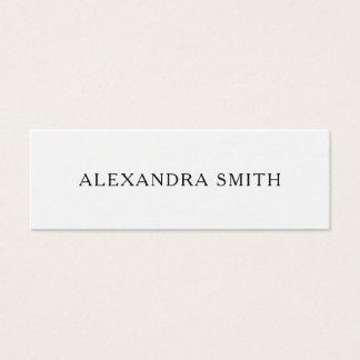 Cartão de visita moderno minimalista preto e