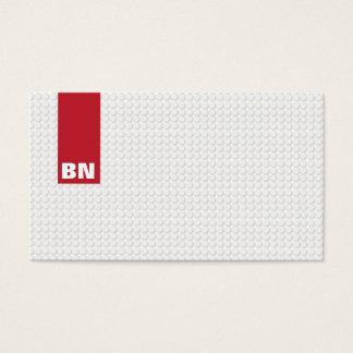 Cartão de visita Monogrammed da listra vermelha