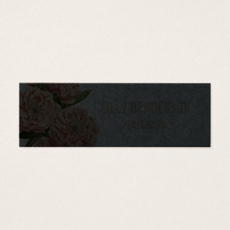 Cartão de visita na moda floral elegante do