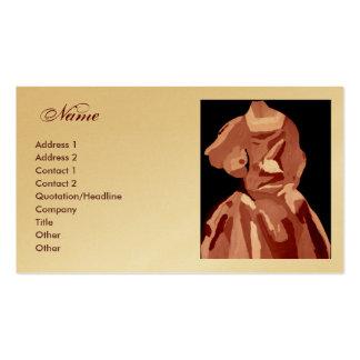 """Cartão de visita neutro do vestido do """"desenhador"""