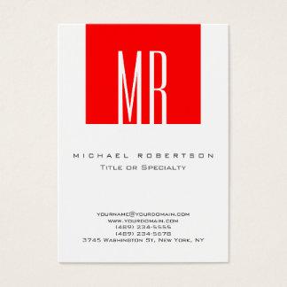 Cartão de visita original da listra vermelha