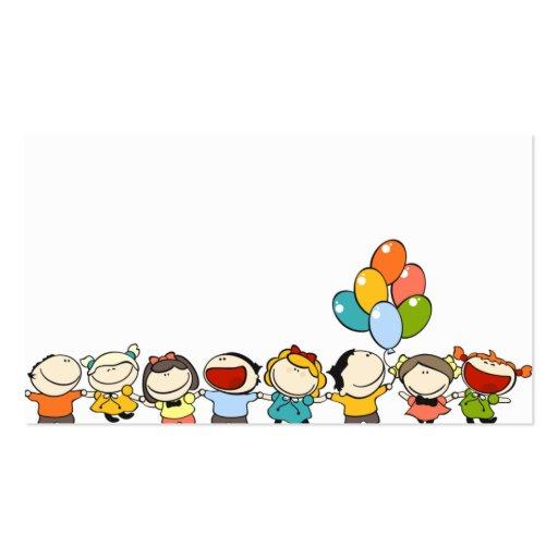 cartão de visita para crianças