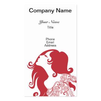 Cartão de visita para o cabeleireiro