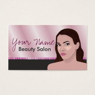 Cartão de visita para o salão de beleza