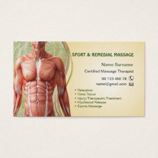 Cartão de visita para o terapeuta da massagem