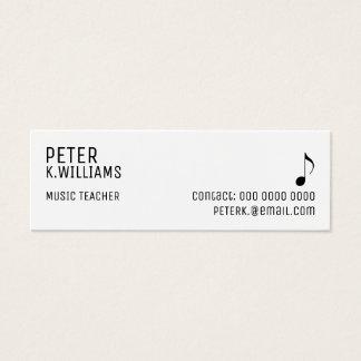cartão de visita para um professor de música