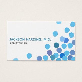 Cartão de visita pediatra Azul-Pontilhado moderno