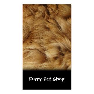 Cartão de visita peludo para a loja de animais de