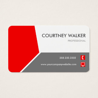 Cartão de visita personalizar-capaz vermelho