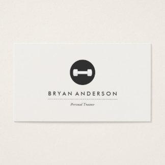 Cartão de visita pessoal do logotipo do instrutor
