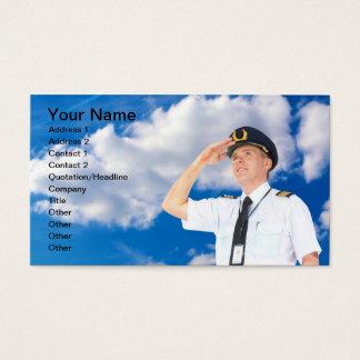 Cartão de visita piloto comercial