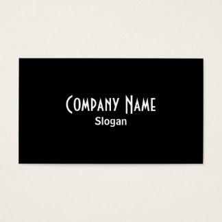 Cartão de visita preto