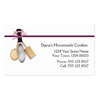 Cartão de visita preto cor-de-rosa do cozimento