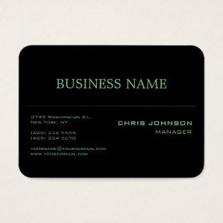 Cartão de visita preto rico do verde carnudo do