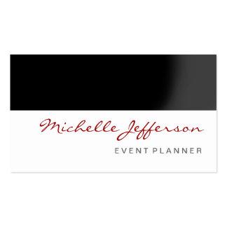 Cartão de visita preto vermelho do planejador de e