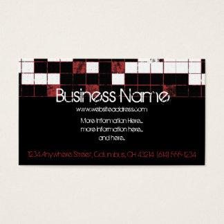 Cartão de visita preto & vermelho encaixotado do