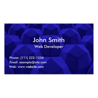 Cartão de visita profissional azul abstrato