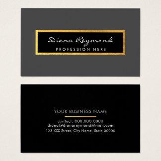 cartão de visita profissional cinzento + detalhe