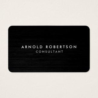 Cartão de visita profissional de madeira do canto
