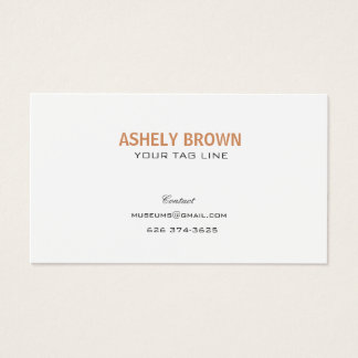 Cartão de visita profissional minimalista de Pearl