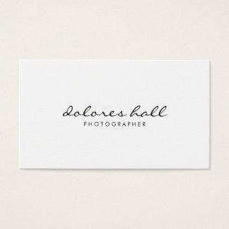 Cartão de visita profissional moderno minimalista
