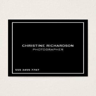 Cartão de visita profissional preto dos fotógrafo