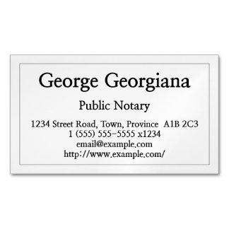 Cartão de visita público limpo e contido do cartão de visitas magnético