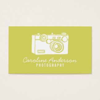 Cartão de visita retro Chartreuse do fotógrafo da